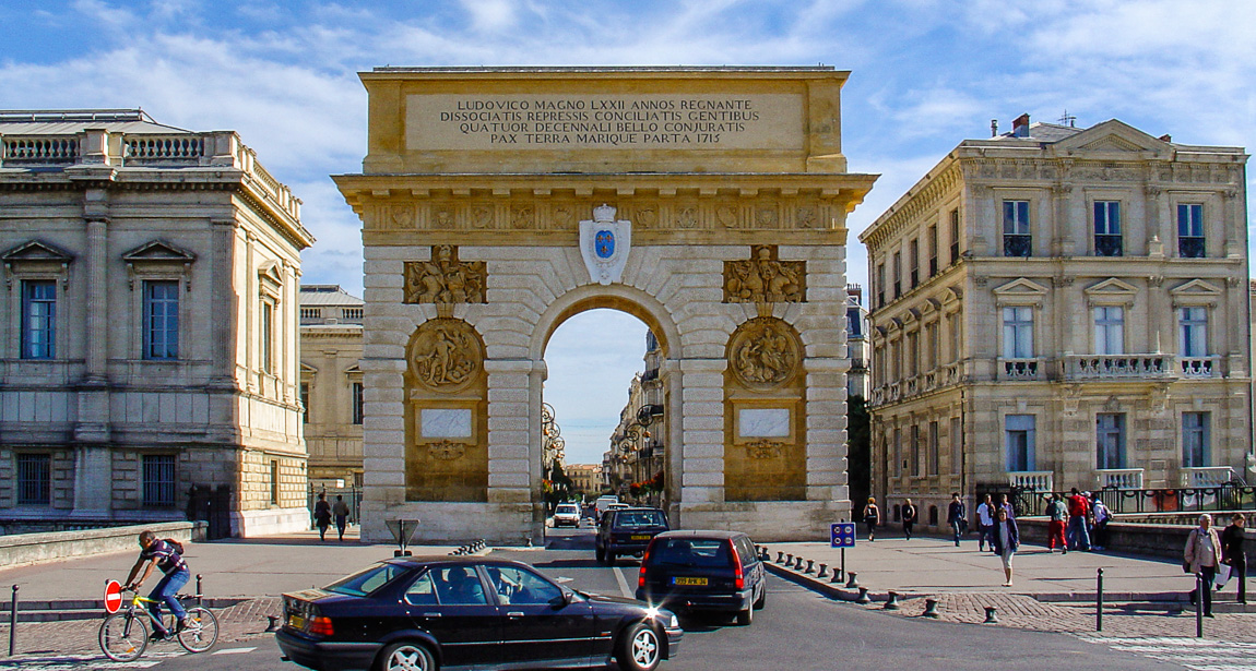Arc de triomphe in Montpellier
